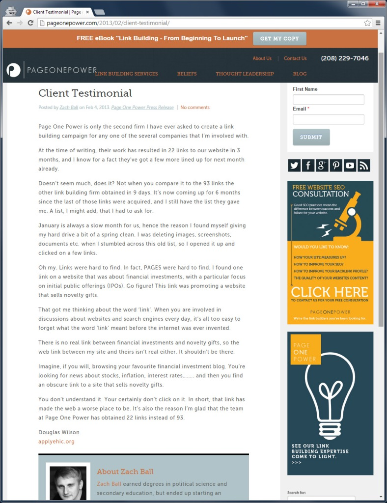 2015-01-30 douglas wilson applyehic client testimonial