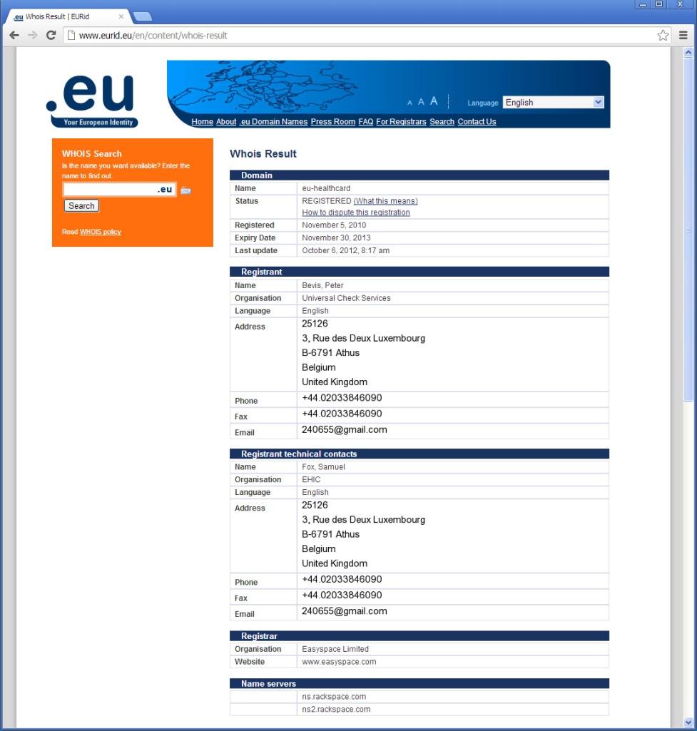 eu-healthcard(DOT)eu